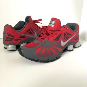 Nike Shox Turbo 14 size 11 Red Grey Silver VGUC